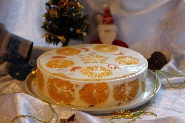 Цитрусовый десерт для праздничного стола: желейный торт «Новый год»