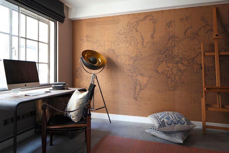 Antique Wold Map Wallpaper