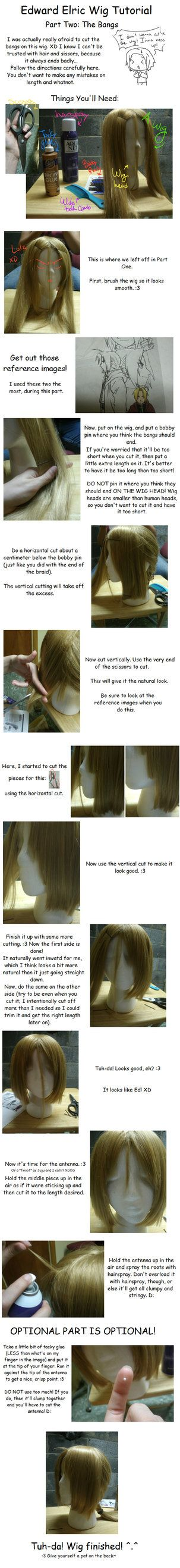 Edward Elric's wig tutorial Part 2 by SakiRee #Fullmetal Alchemist
