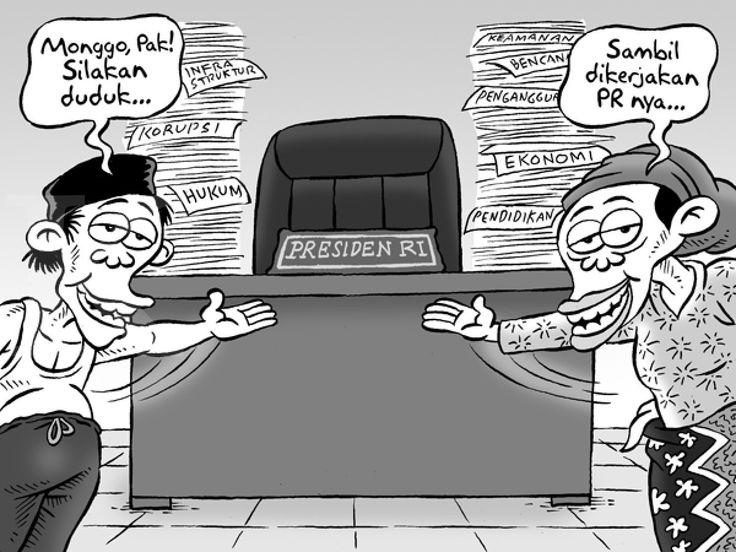 Kartun Benny, Kontan 23 Juli 2014: Presiden dan PR-nya