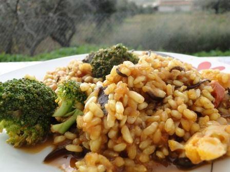 Mis Recetas Anticáncer: Arroz con algas, setas y brócoli