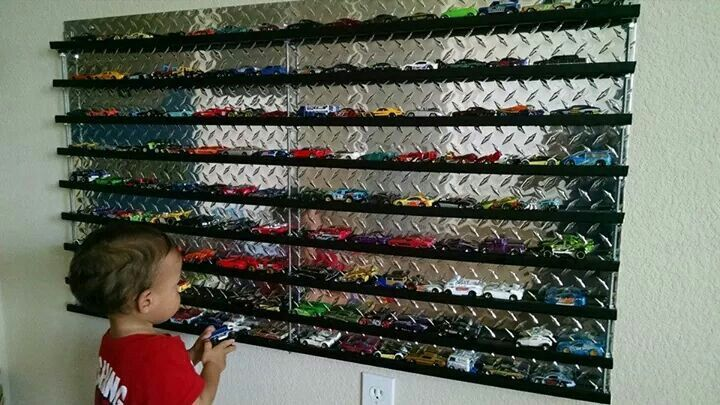 The boys are loving their new hotwheels display.