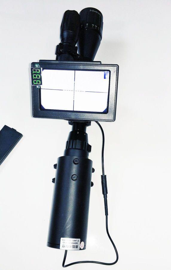 Riflescope Add On Diy Night Vision Scope Day Night Use With Screen Ir Torch Night Vision Diy Night Vision Night Vision Monocular Night