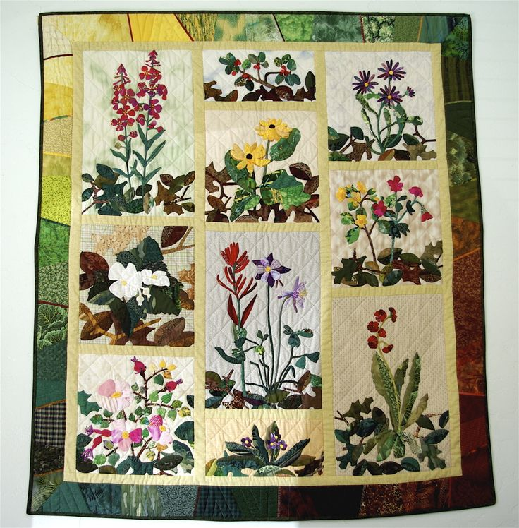 large applique flowers for quilts