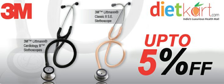 The online shopping store offers wide range of clinical devices like stethoscopes and cardiology stethoscope by 3M Littmann at discounted price. We provide free shipping and cash on delivery facilities across India.  See More at http://www.dietkart.com/3m