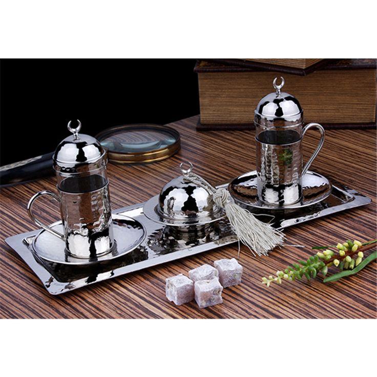 Hediyelik Gümüş Renk Bakır 2'li Su & Çay Takımı  Ürün Bilgisi ;  Özel yapım 2'li takım Gümüş renk Çay - su takımı özel ürün Şık ve zarif takım Ürün fotoğrafta görüldüğü gibidir Sevdiklerinize hediyelik eşya olarak gönderebilirsiniz