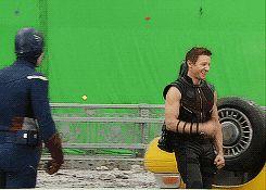 Jeremy Renner as Clint Barton / Hawkeye in The Avengers (2012) gifs