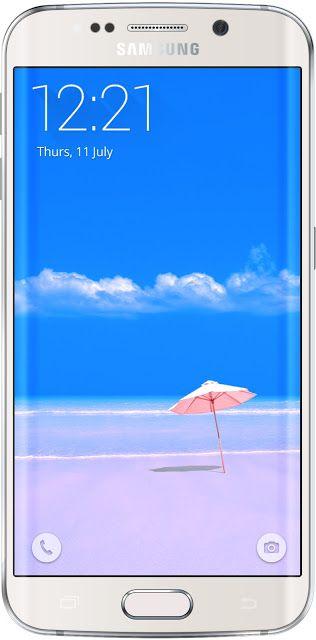 Beach Umbrella Wallpapers Galaxy S7 Edge | Free Wallpaper Phone