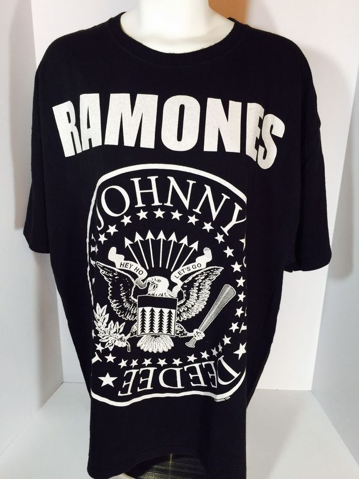 Ramones Presidential Seal 1-2-3-4 Hey Ho Let's Go T Shirt Black Size 2XL (R7)  | eBay