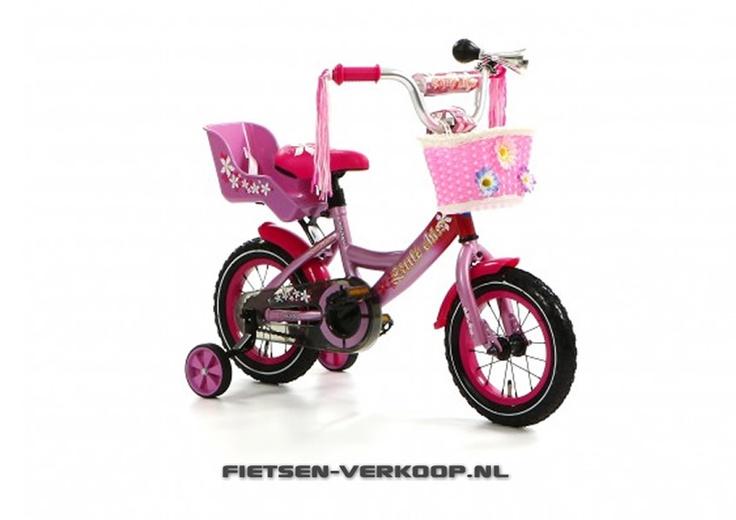 Meisjesfiets Little Miss Roze 12 Inch   bestel gemakkelijk online op Fietsen-verkoop.nl