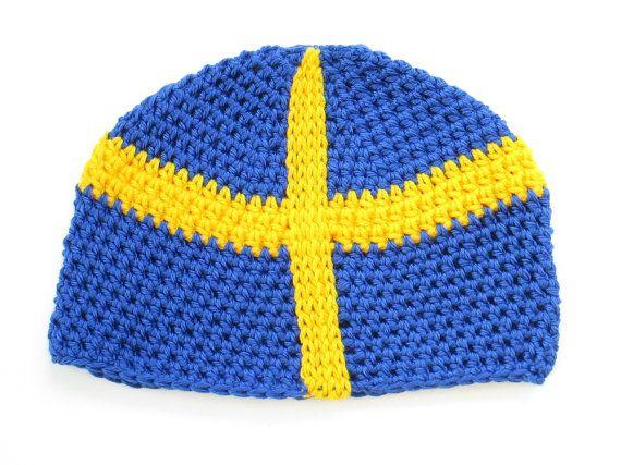 Sweden Flag Beanie Hat Cap