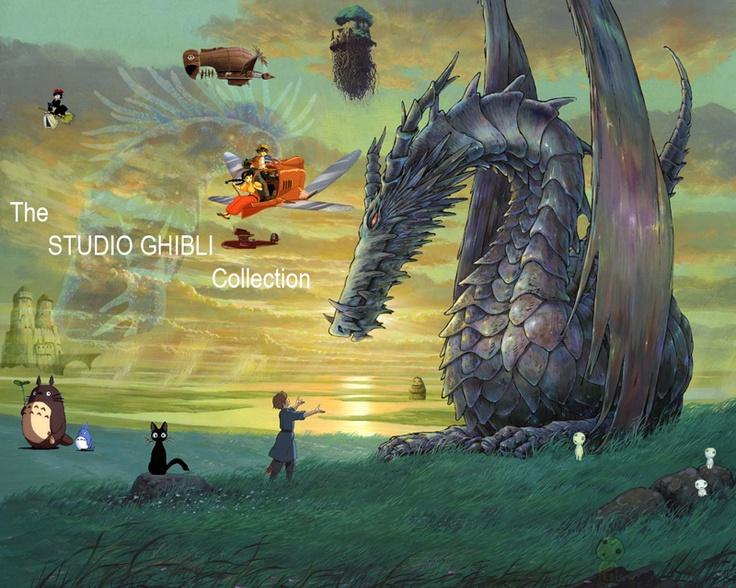 Studio Ghibli CollageFilm, Earthsea, Not Them Miyazaki, Dragons, Book, Movie, Studios Ghibli, Animal, Tales