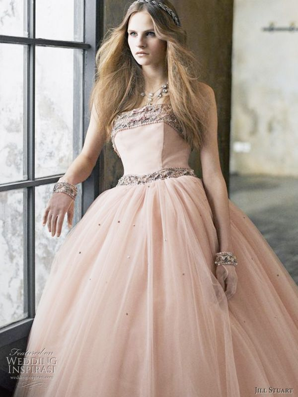 Romantic dusty pink wedding dress from Jill Stuart bridal 2010 collection