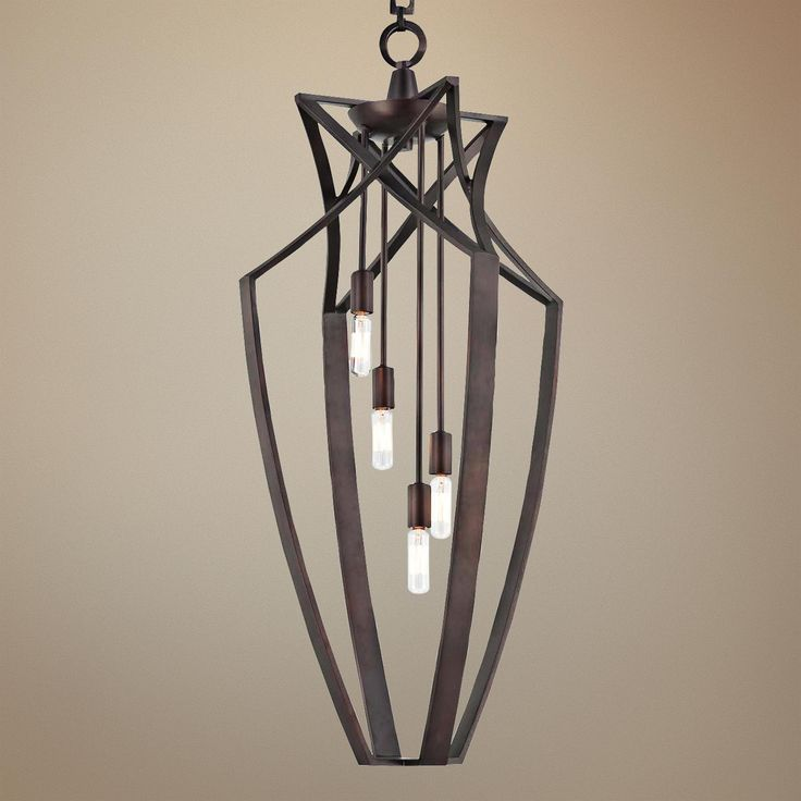 Savoy house windsung bronze 4 light foyer pendant