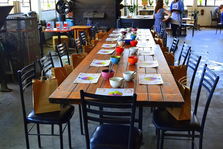 The cupping table set up. #coffee