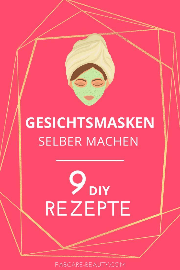 Hier findest du 9 einfache Rezepte, um Gesichtsmasken selbst zu machen. Viel Spa…