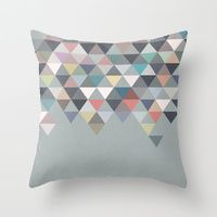 Throw Pillows featuring Nordic Combination 20 by Mareike Böhmer Graphics