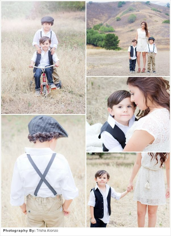 Family Picture Ideas: Vintage Life with Boys   Child Photography   Fashion   Clothing Inspiration   What To Wear For A Photo Session   Pose Idea   Prop Ideas   Family   Siblings
