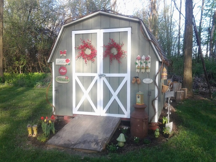 Weekend Shed Makeover In 2019 Shed Decor Shed