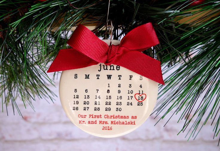 OUR FIRST CHRISTMAS Ornament, our first christmas, Just Married ornament, Wedding ornament, personalized christmas ornament, wedding gift by rachelwalter on Etsy https://www.etsy.com/listing/253883358/our-first-christmas-ornament-our-first