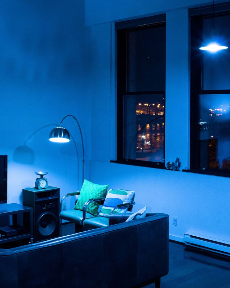 Feel the blues, Live the blues. Jazz up your room with lighting.