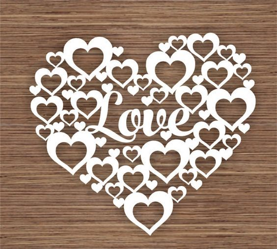 Love PDF SVG Instant Download Digital Papercut by ArtyCuts on Etsy: