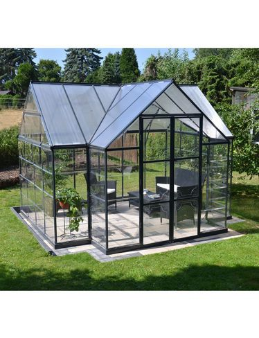Concrete blocks floor will provide mass to release heat at night?Victory™ Orangery Greenhouse