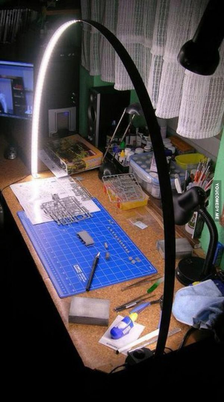workshop bench arch lamp
