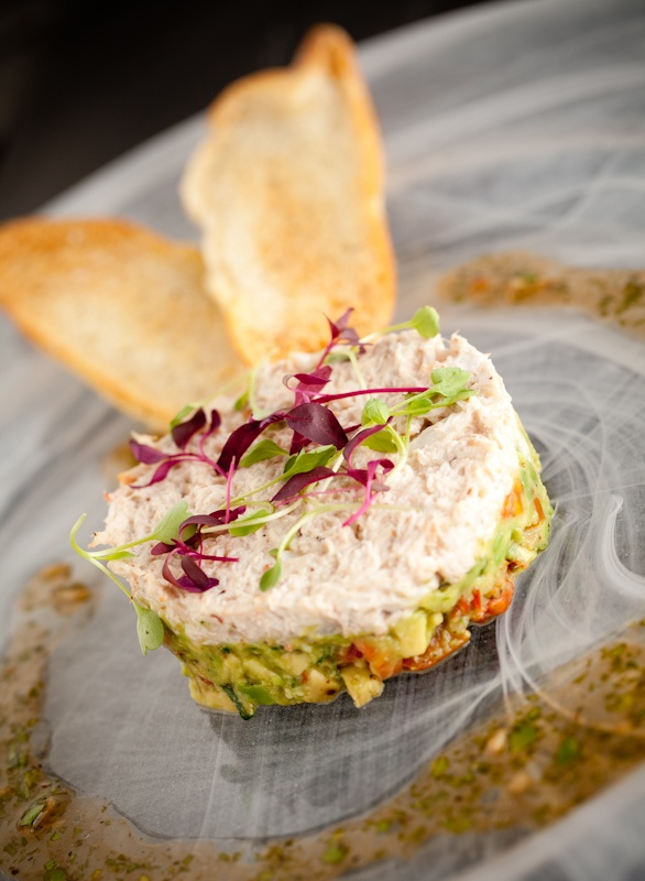 starter - Tian of crab with avocado
