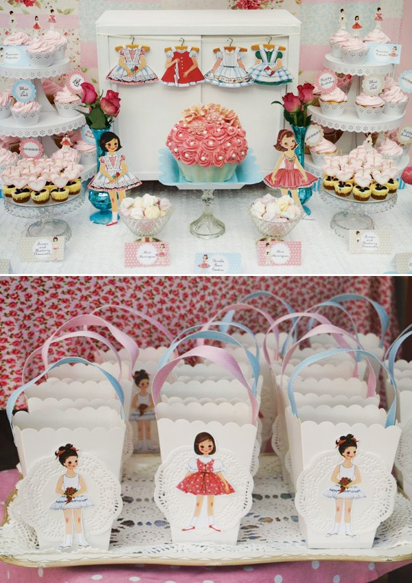 Vintage Paper Doll Party {1950s Inspired} LOVE LOVE LOVE THIS!!!!  Pictures only... Cute party decorations.