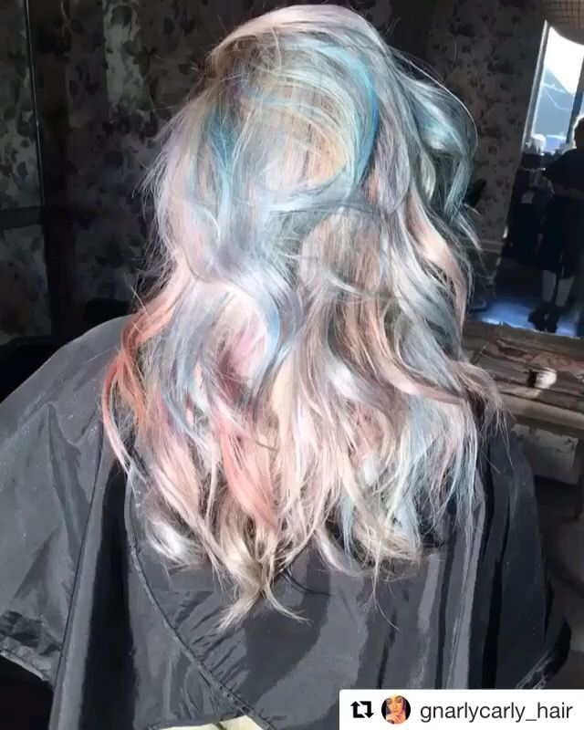 Opal holographic hair