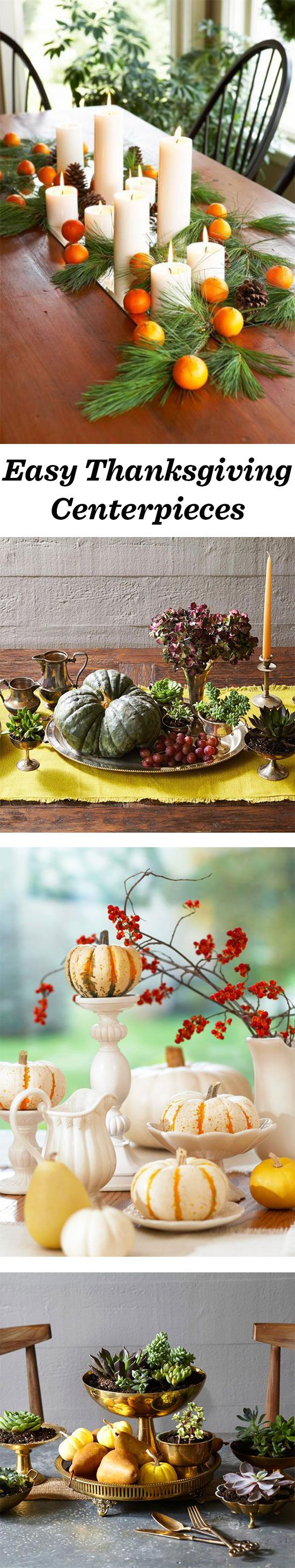 These easy Thanksgiving centerpieces will brighten up
