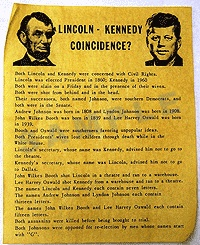 Lincoln-Kennedy Coincidence