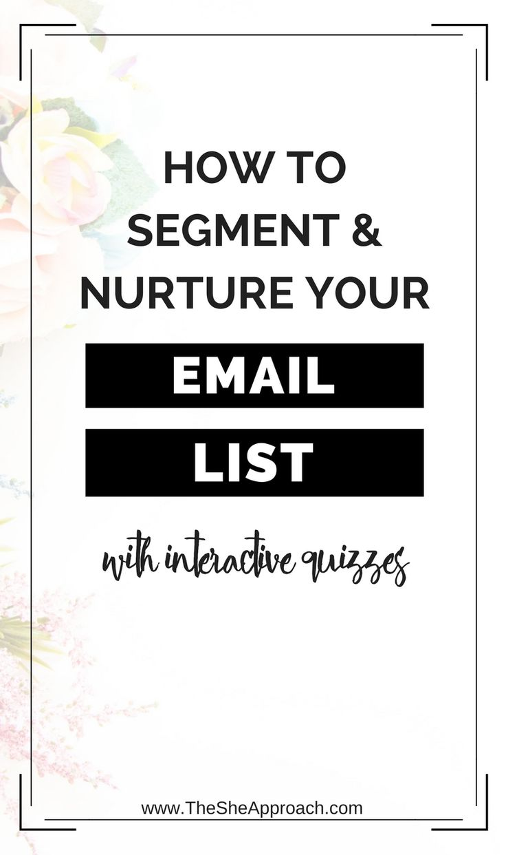 Email marketing tips for bloggers. Grow your email list. Segment and nurture your email list with interactive, online quizzes. Email marketing tutorial. #bloggingtips #emailmarketing The She Approach. How to build trust with your email list and more online marketing tricks.