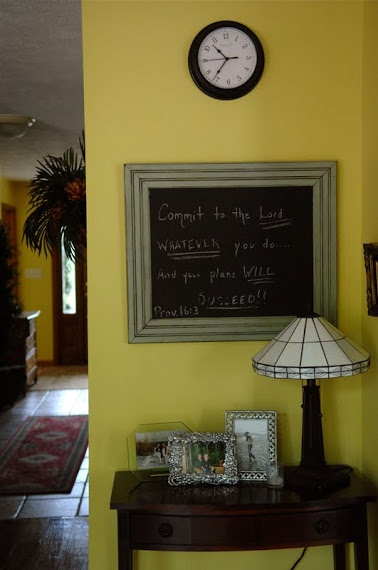 Chalkboard/Picture frame tutorial - You Are Talking Too Much