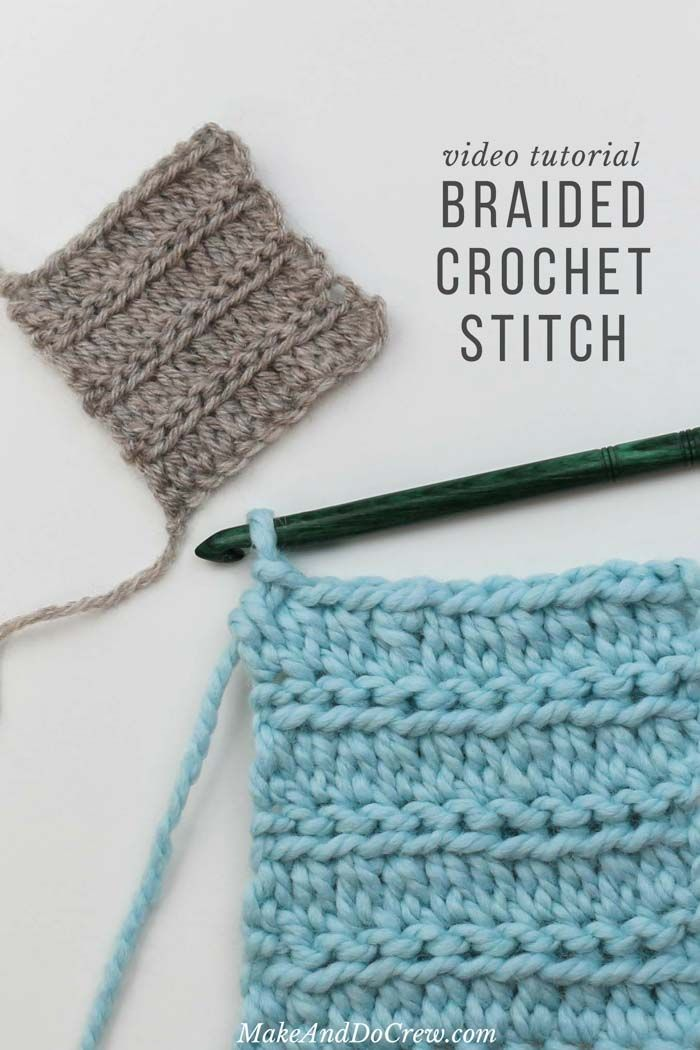 This easy braided crochet stitch look so much like knitting! Easy step-by-step v…