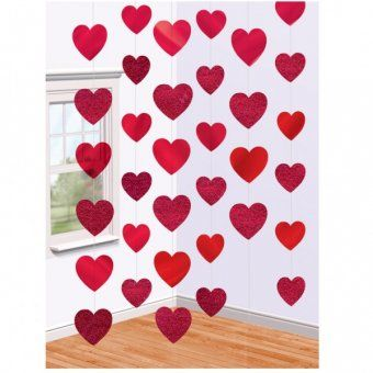 Red Valentine String Decoration 40th Wedding Anniversary Decoration Ideas
