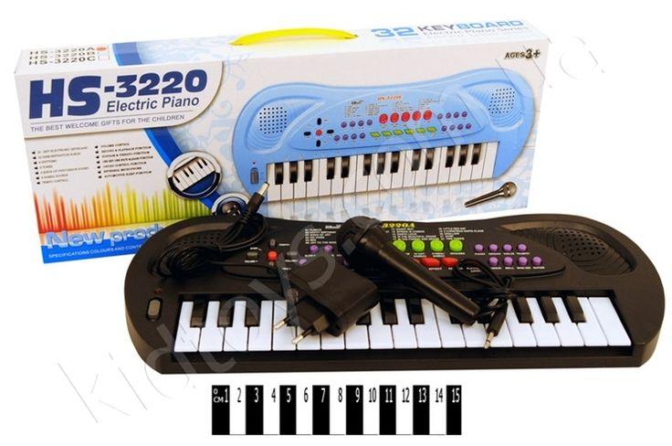 Піаніно з мікрофоном (коробка) НS3220A, товары из китая интернет магазин, старые настольные игры, развивающие игрушки для малышей, настольные развивающие игры для детей, товары почтой, детские игрушки коляски для кукол