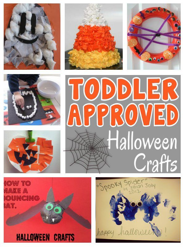 Halloween crafts for toddlers. I'm putting it into funnies because the bottom right hand 'scary spider' appears to have a freaky little girl shadow face in the print. Scared me lol!