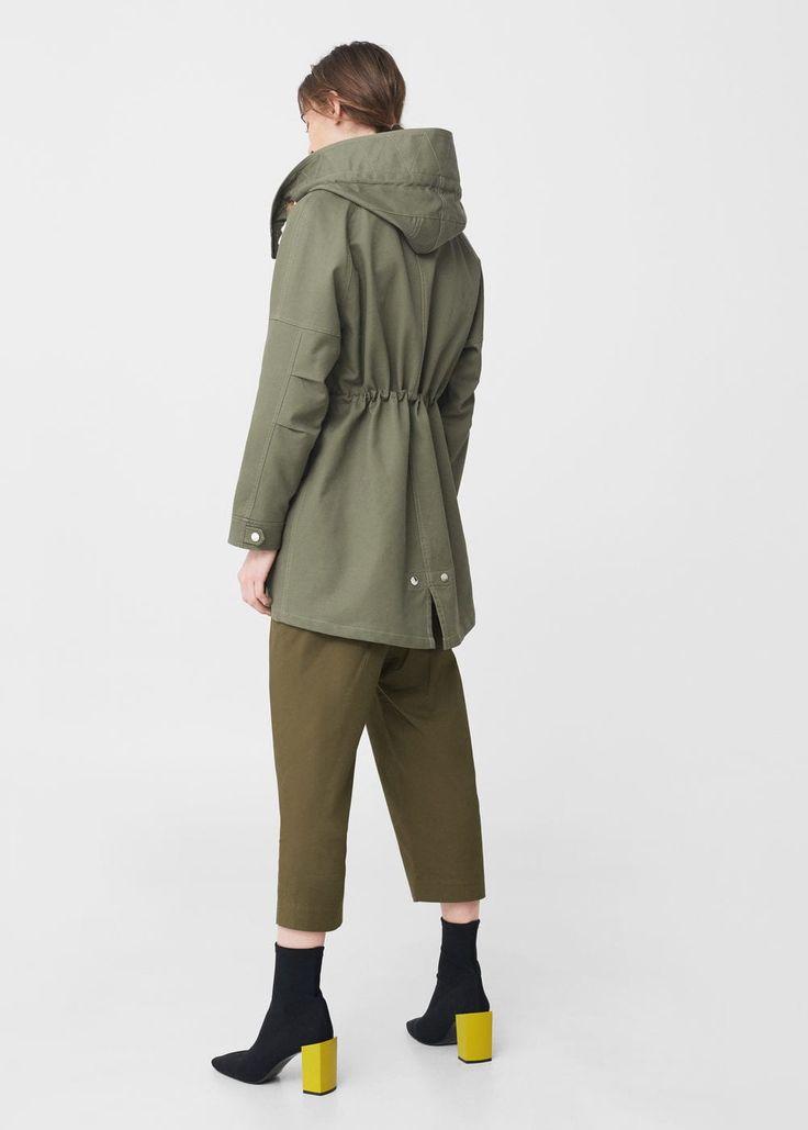 Hooded cotton parka | MANGO