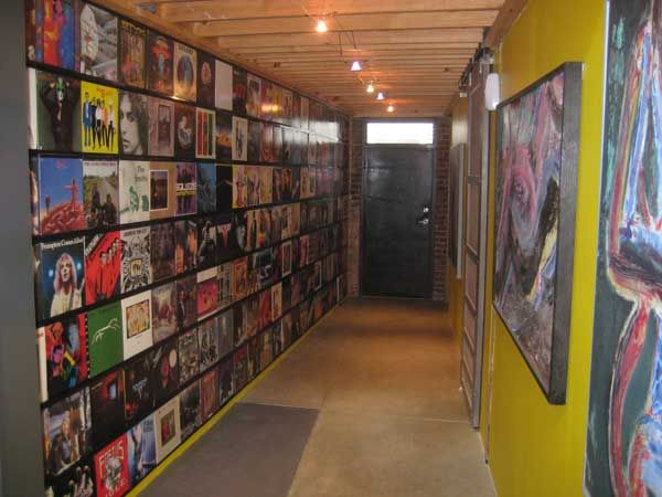 Beautiful Hanging Record Albums On the Wall