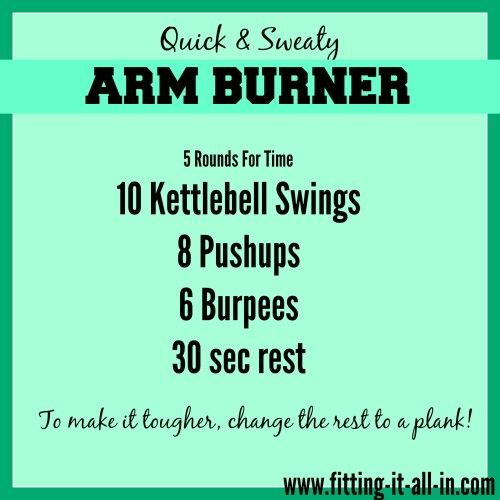 Quick & Sweaty Arm Burner                                                                                                                                                                                 More