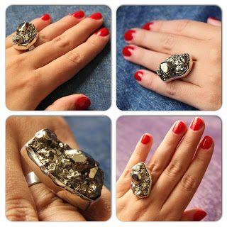 Pyrite Ring / Anillo de Pirita www.silviaardila.co