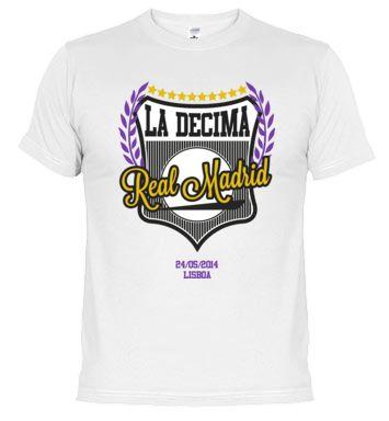 Camiseta La Décima del Real Madrid - Liboa - Champions