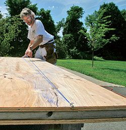 Cutting plywood to size - Fine Homebuilding Article