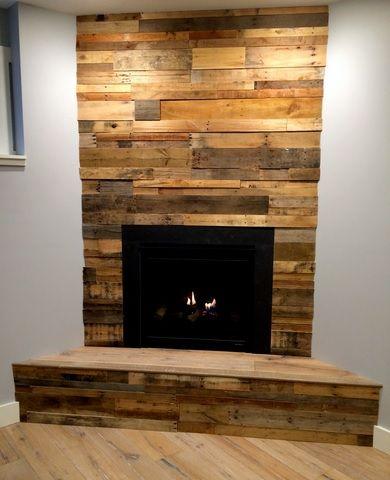 Top 25 best Reclaimed wood fireplace ideas on Pinterest Wood