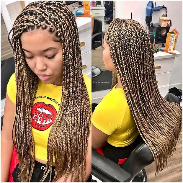 23 Cool Blonde Box Braids Hairstyles To Try Page 2 Of 2 Stayglam Blonde Box Braids Box Braids Hairstyles Braided Hairstyles
