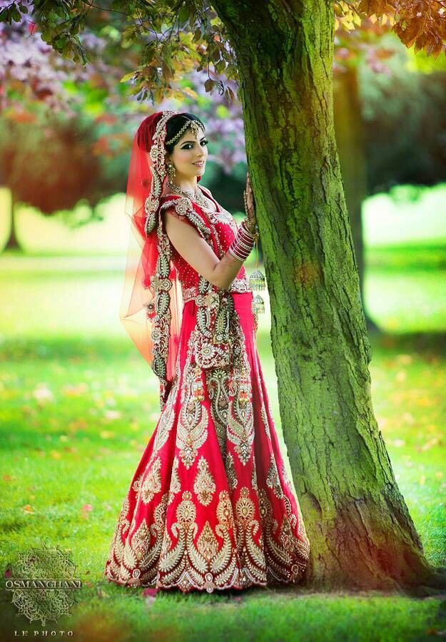 Sikh bride in red wedding lengha brides of india for Punjabi wedding dresses online