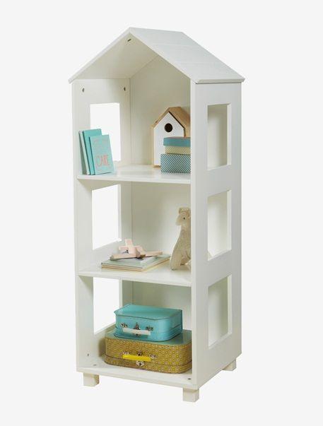 Formschön und funktional, das ist dieses schmale Kinderregal in Hausform. Das Hausregal bietet Platz für Deko, Spielzeug, Babyartikel oder Kinderschätze - und auch für hübsche Aufbewahrungsboxen, in denen Krimskrams ordentlich verstaut werden kann. Dabei wirken die ausgesägten quadratischen Öffnungen an den Seiten wie kleine Fenster. Produktdetails:Regal in Hausform: MDF, lackiert. Dekorative Hausform. 3 Fächer. Ausgesägte Öffnungen an den Seiten. Höhe 118 cm, Breite 46 cm, Tiefe 40 cm…
