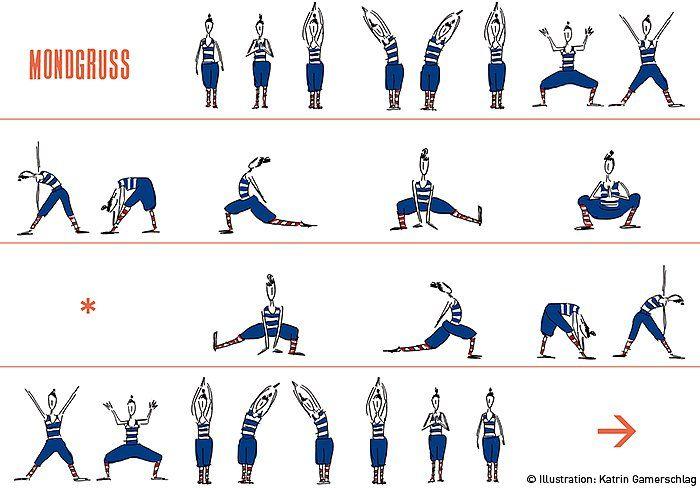 yoga woman mondgruß © katrin gamerschlag